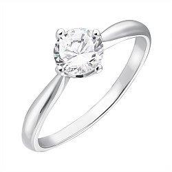 Серебряное кольцо Катарина с фианитом