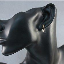Золотые серьги Селия с бриллиантами