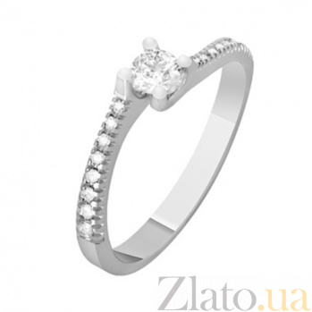 Золотое кольцо с бриллиантами Аврора KBL--К1077/бел/брил