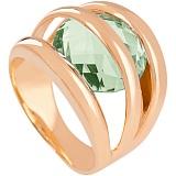 Золотое кольцо Сюрприз с синтезированным аметистом