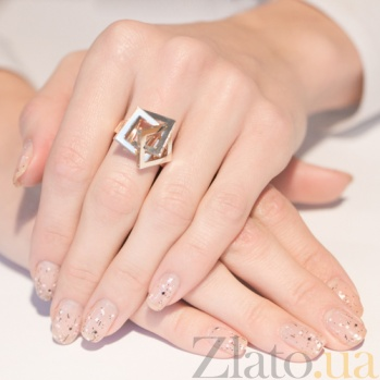Золотое кольцо Квадрат EDM--КД0365