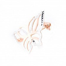 Золотая брошь Бабочка-красавица