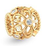 Золотой подвес из жёлтого золота Ажурные фианиты