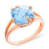 Кольцо из золота с голубым топазом Лидия