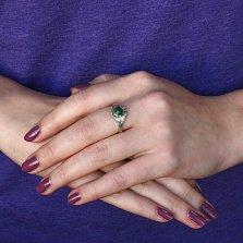Серебряное кольцо Кларисса с малахитом