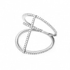 Золотое кольцо Линда с бриллиантами