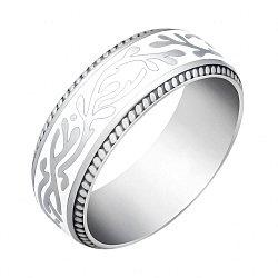 Обручальное серебряное кольцо с эмалью 000046033