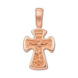 Золотой крестик в красном цвете 000117547
