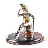 Серебряная статуэтка с позолотой Танцовщица кабаре