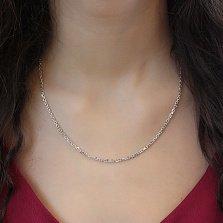 Серебряная родированная цепочка Диана с якорным плетением, 2мм