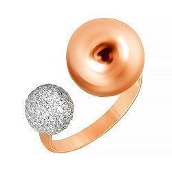 Позолоченное серебряное кольцо с фианитами 000028192