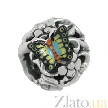 Шарм из серебра с эмалью Лесная поляна 3Н203-0202