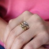 Кольцо Оптикс в белом, красном и желтом золоте