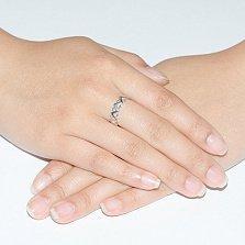 Кольцо из белого золота с фианитами Летиция