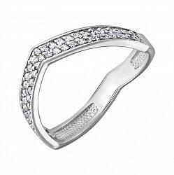 Серебряное кольцо Мирабель с фианитами