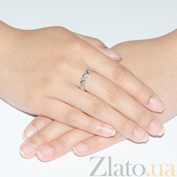 Кольцо из белого золота с фианитами Летиция 3522089