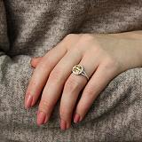 Серебряное кольцо с желтым фианитом