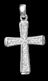 Серебряный крестик с фианитами Эллада