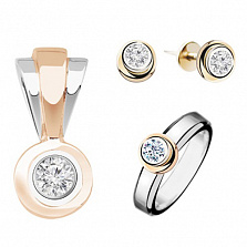 Золотой гарнитур с бриллиантами Ольга