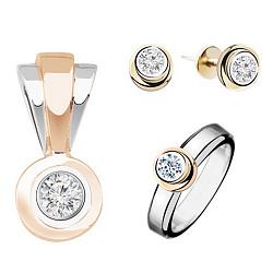 Золотой гарнитур с бриллиантами Ольга 000017776