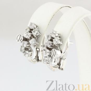 Золотые серьги с сапфирами Watch me VLN--123-1391-12*