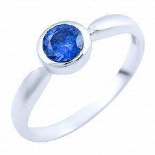 Серебряное кольцо Инджи с синтезированным танзанитом
