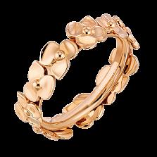 Молодежное кольцо в розовом золоте Hortensia