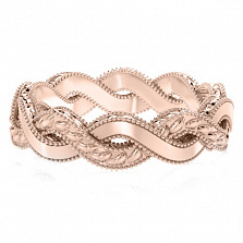 Обручальное кольцо из розового золота Золотое сечение