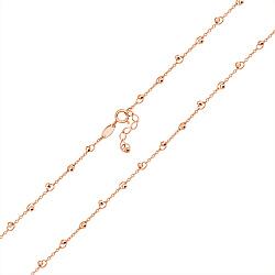 Золотое колье в красном цвете с бусинками 000101024