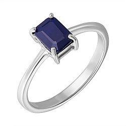 Серебряное кольцо с сапфиром 000132500