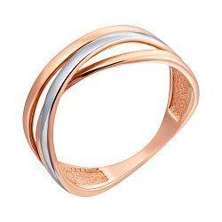 Золотое кольцо в комбинированном цвете 000095166