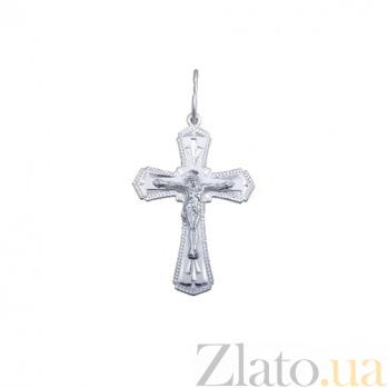 Серебряный крест Светлое Рождество AQA-3081-б