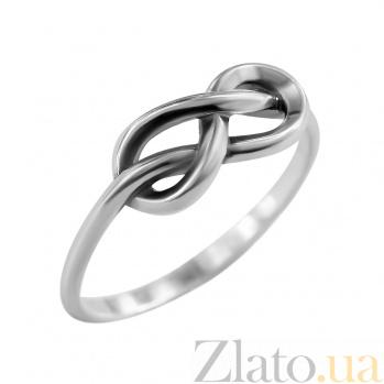 Серебряное кольцо Знак бесконечность 000029343