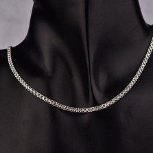 Серебряная цепочка Далайти в двойном якорном плетении