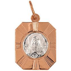 Золотая ладанка Дева Мария 000046179