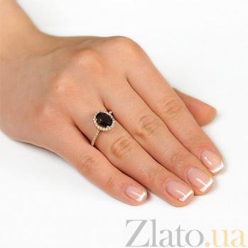 Золотое кольцо Альда с раухтопазом и фианитами EDM--КД4036РАУХТОПАЗ