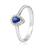 Золотое кольцо с сапфиром и бриллиантами Аида