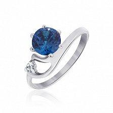 Серебряное кольцо с фианитами Мариям