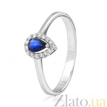 Золотое кольцо с сапфиром и бриллиантами Аида EDM--КД7553/1САПФИР