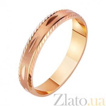 Золотое обручальное кольцо Любовная сага TRF--411026