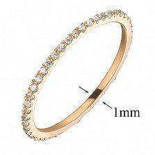 Кольцо из красного золота с фианитами Анджелин