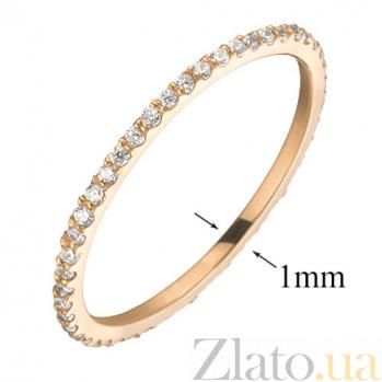 Кольцо из красного золота с фианитами Анджелин SVA--110148310101