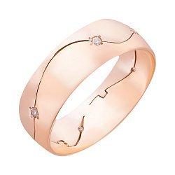 Обручальное кольцо в комбинированном золоте с фианитами 000011288