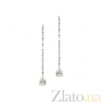 Золотые серьги с топазами и бриллиантами Гелла 1С034-1072
