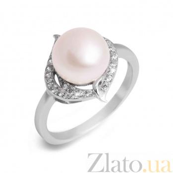 Серебряное кольцо Незнакомка с белым жемчугом AQA--R00842PW