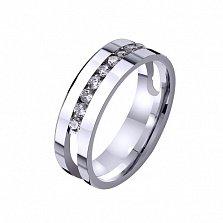 Золотое обручальное кольцо Жако с фианитами