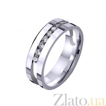 Золотое обручальное кольцо Жако с фианитами TRF--4221053