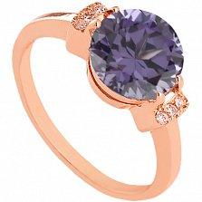 Золотое кольцо с александритом и фианитами Крейтер
