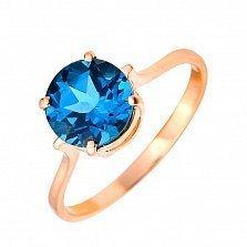 Кольцо из красного золота Аква с синим топазом лондон