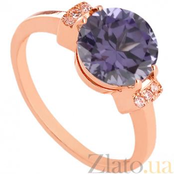 Золотое кольцо с александритом и фианитами Крейтер 000024472